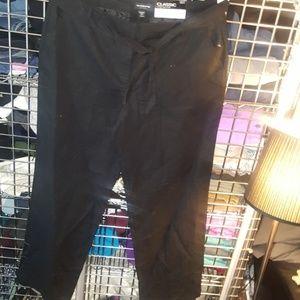 Liz Claiborne classic wide leg crop trouser 18 tal